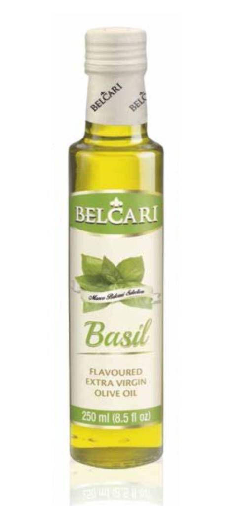 Basil flavoured extra virgin oil