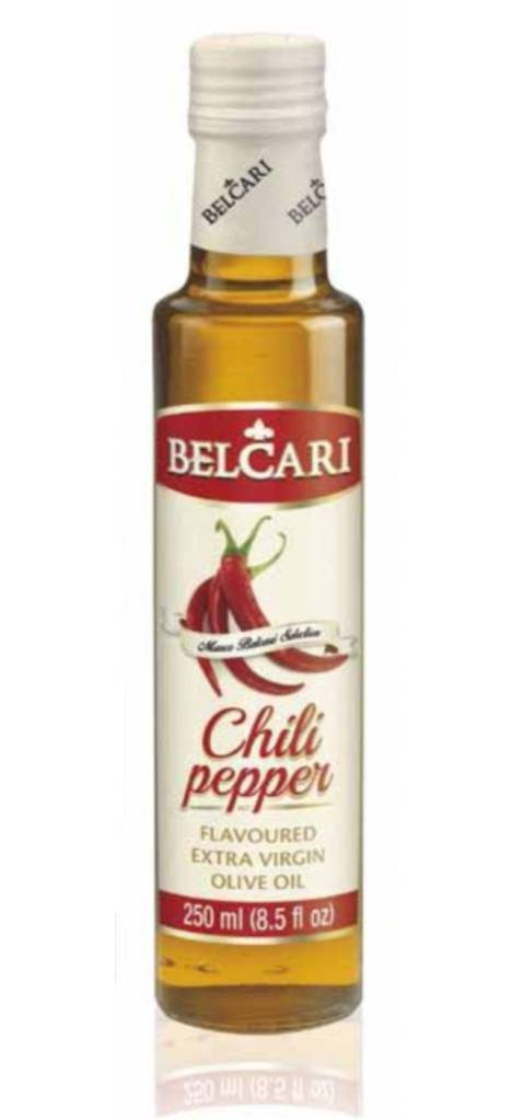 Chili pepper flavoured extra virgin oil